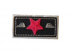 Écusson thermocollant étoile rouge sur fond noir