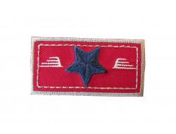Ecusson thermocollant étoile sur fond rouge Petit modèle