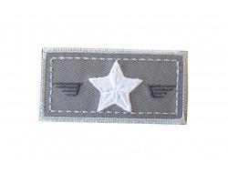 Ecusson thermocollant étoile sur fond gris Petit modèle