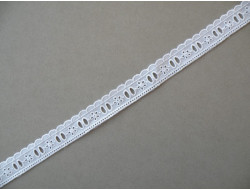 Broderie anglaise blanche 21 mm
