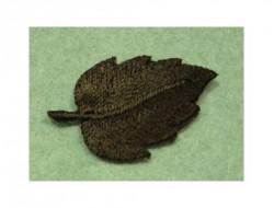 Ecusson thermocollant feuille noire