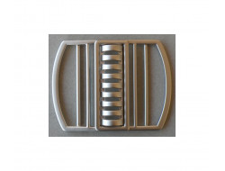 Boucle de ceinture métal argent bord à bord