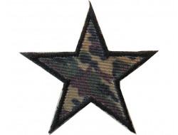 Ecusson thermocollant étoile treillis vert