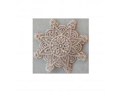 Ecusson thermocollant fleur dentelle beige