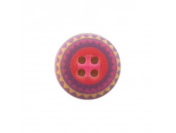 Bouton fantaisie violet 18 mm