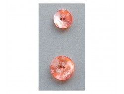 Bouton orange à fleurs 18 et 23 mm