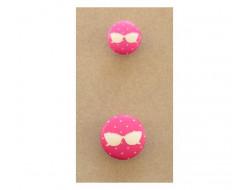 Bouton lunettes roses 15 et 20 mm