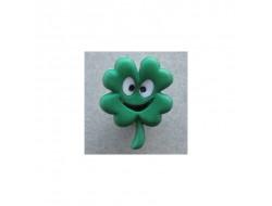 Bouton trèfle à quatre feuilles 22 mm