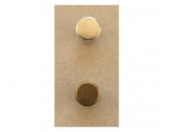Bouton métal bronze ou argent