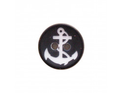Bouton ancre marine 15mm