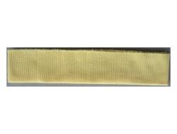 Bas de blouson acrylique jaune