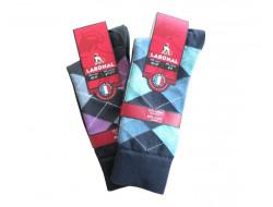 Chaussettes à carreaux - 98% Coton