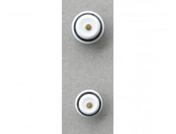 Bouton noir blanc or 11 et 15 mm
