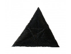Écusson thermocollant triangle noir