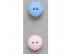 Bouton rose ou bleu 15 mm