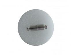 Fermoir magnétique argent 11 mm