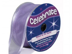 Bobine celebrate ruban mousseline violet