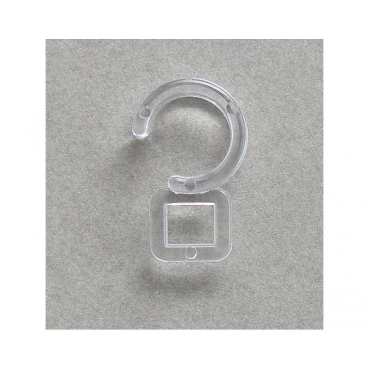 Agrafe d'anneaux cristal