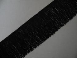 Frange rayonne noire 14 cm