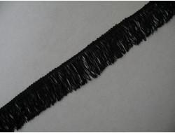 Frange rayonne noire 4.50 cm