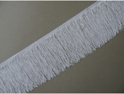 Frange rayonne blanche 14 cm