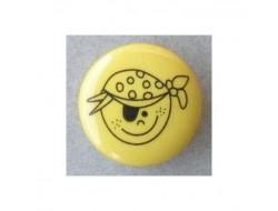 Bouton jaune pirate