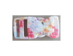 Boucle sacoche, à fleurs 25 mm