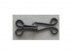 Crochet métal noir