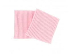 Poignets bords côtes acrylique rose