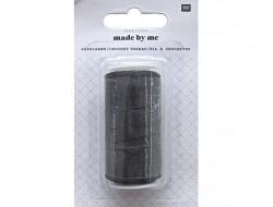 Fil à crocheter noir 100% nylon