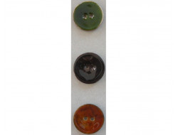 Gros bouton coco vert, marron clair ou foncé 40 mm