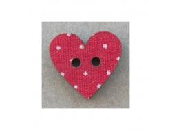 Bouton coeur en bois