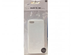 Coque téléphone portable blanc pour iphone 5 / 5S à broder
