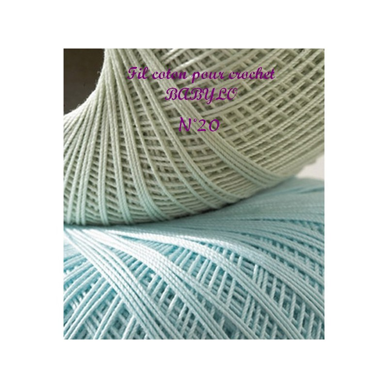 fil coton pour crochet babylo n 20 dmc mercerie floriane. Black Bedroom Furniture Sets. Home Design Ideas