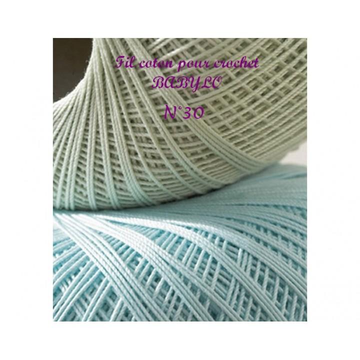 fil coton pour crochet babylo n 30 dmc mercerie floriane. Black Bedroom Furniture Sets. Home Design Ideas