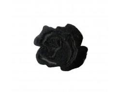 Ecusson thermocollant fleur noire