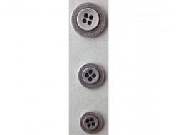 Bouton métal argent 15 - 18 et 22 mm