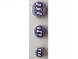 Bouton laçage noir 15, 20 et 25 mm