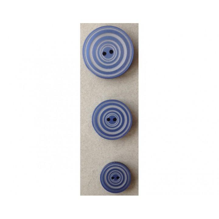 Bouton bleu et gris