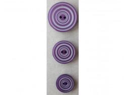 Bouton  violet et gris
