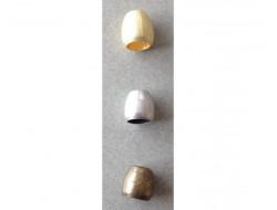 Embout de cordon, gland doré, argent ou bronze