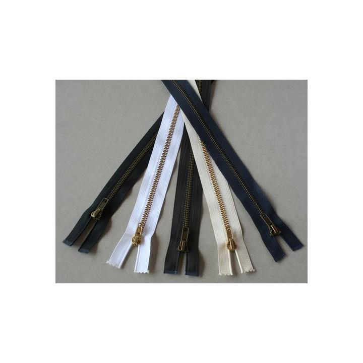 Fermeture à glissière laiton séparable