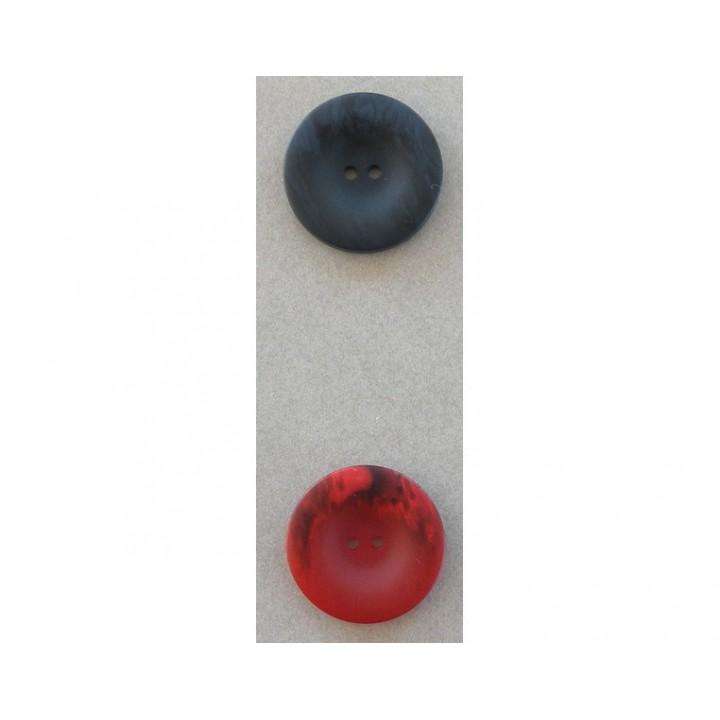 Bouton classique bleu ou rouge 25 mm