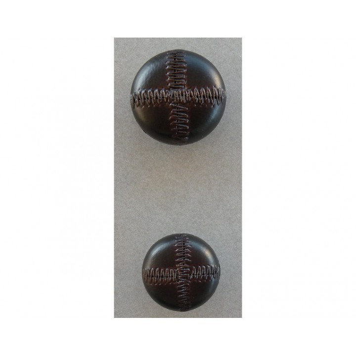 Bouton effet cuir marron 22 et 27 mm