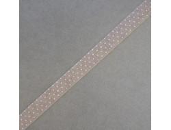 Bobine RICO ruban tissus autocollant lin à pois
