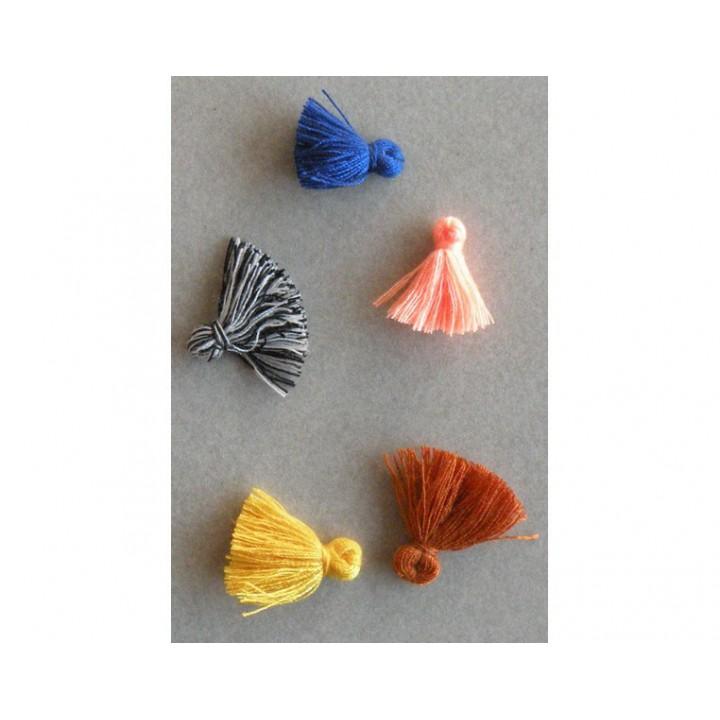 Lot de 5 mini pompons Artisan