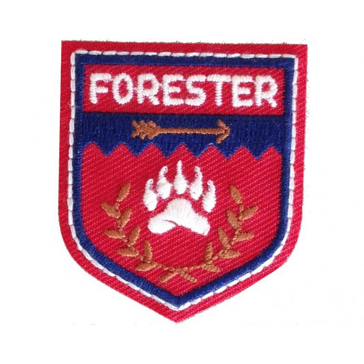 Ecusson thermocollant Forester rouge
