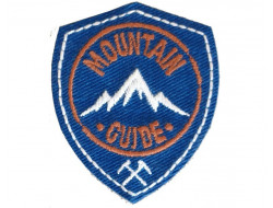 Ecusson thermocollant Montain guide bleu