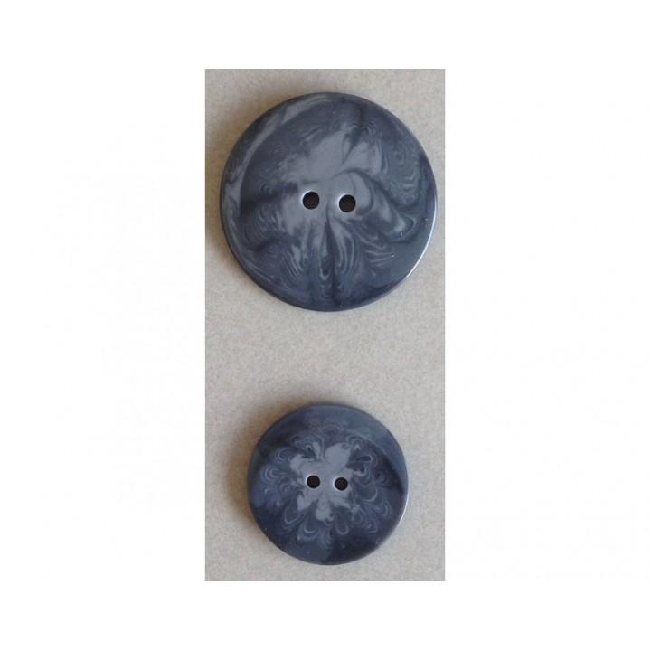 Gros bouton classique gris 38 ou 50 mm
