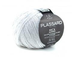 Fil Mica de Plassard 46% coton, 46% acrylique, 5% lurex, 3% polyester